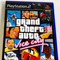 Videojuegos y Consolas: PLAYSTATION 2 - GRAND THEFT AUTO VICE CITY - GTA / CON GUÍA TURÍSTICA Y POSTER. Lote 178724957