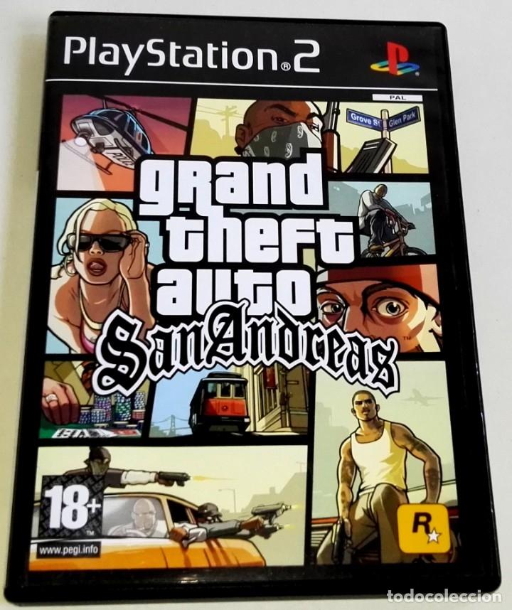 PLAYSTATION 2 - GRAND THEFT AUTO SAN ANDREAS - GTA / CON GUÍA DE NEGOCIOS Y POSTER (Juguetes - Videojuegos y Consolas - Sony - PS2)