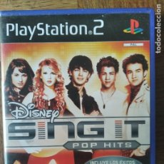 Videojuegos y Consolas: SING IT DISNEY, POP HITS - PLAYSTATION 2 PS2 - JUEGO PAL ESPAÑA - TAYLOR SWIFT, MILEY CYRUS, JONAS B. Lote 179087427
