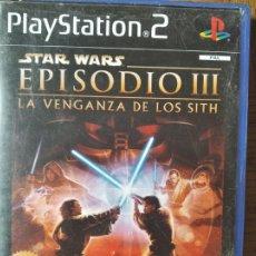 Videojuegos y Consolas: STAR WARS EPISODIO III, LA VENGANZA DE LOS SITH - PLAYSTATION 2 PS2 - JUEGO PAL ESPAÑA - . Lote 179088182