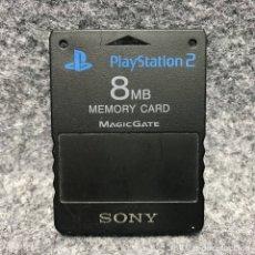 Videojuegos y Consolas: MEMORY CARD 8MB OFICIAL NEGRO SONY PLAYSTATION 2 PS2. Lote 179344798