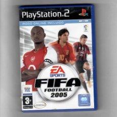 Videojuegos y Consolas: FIFA FOOTBALL 2005 [PS2] MODO ONLINE INCLUIDO SIN MANUAL. Lote 49656498