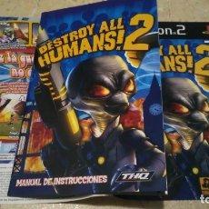 Videojuegos y Consolas: PS2 , DESTROY ALL HUMANS 2 , MANUAL Y CARÁTULA DE PAPEL. Lote 180275216