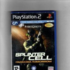 Videojuegos y Consolas: SPLINTER CELL - [PS2] -EN CASTELLANO -CON MANUAL. Lote 49651519