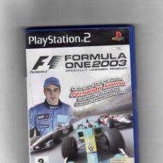 Videojuegos y Consolas: F1ONE 2003 FORMULA [PS2] EN CASTELLANO - NO MANUAL - SEGUNDA MANO BUENO. Lote 49655905