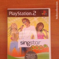 Videojuegos y Consolas: SINGSTAR POP - PLAYSTATION 2 - PAL ESPAÑA -. Lote 182081127