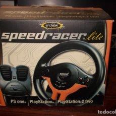 Videojuegos y Consolas: SPEEDRACER LITE VOLANTE Y PEDALES PS ONE, PLAYSTATION, PLAYSTARIO 2 TWO. CON CAJA SIN MANUAL USUARIO. Lote 195185697