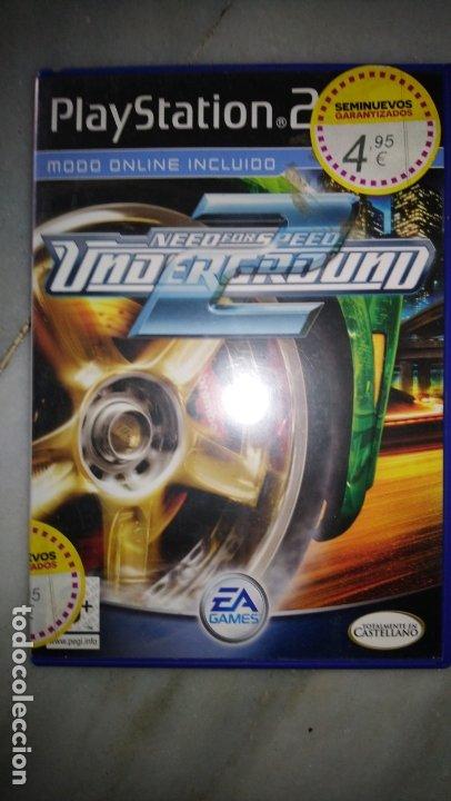 NEED FOR SPEED UNDERGROUND 2 PAL DE ESPAÑA SIN MANUAL (Juguetes - Videojuegos y Consolas - Sony - PS2)