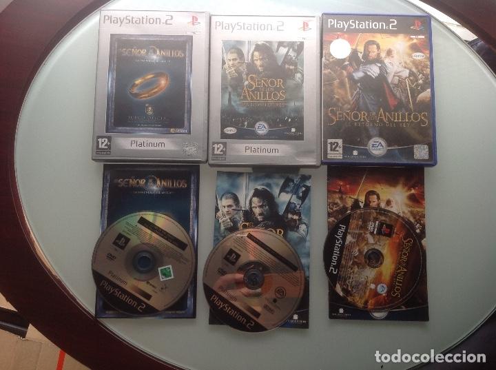 Videojuegos y Consolas: LOTE EL SEÑOR DE LOS ANILLOS. PS2 - Foto 2 - 182939630
