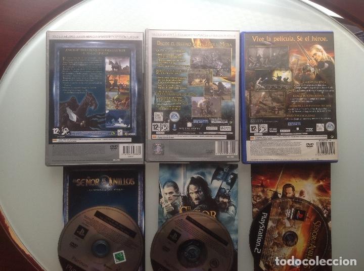 Videojuegos y Consolas: LOTE EL SEÑOR DE LOS ANILLOS. PS2 - Foto 3 - 182939630