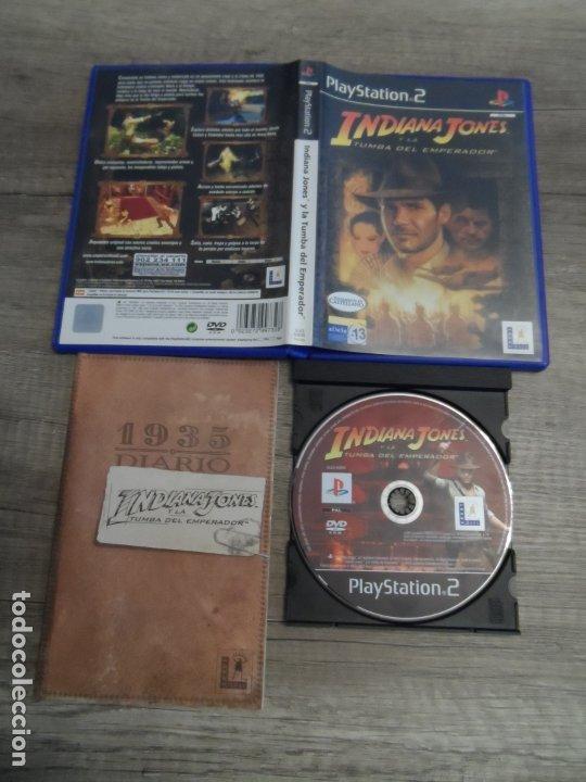 PS2 INDIANA JONES Y LA TUMBA DEL EMPERADOR PAL ESP COMPLETO (Juguetes - Videojuegos y Consolas - Sony - PS2)