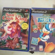 Videojuegos y Consolas: JUEGOS PLAY 2 SON OF THE LION KING Y DONAL DUCK. Lote 183780213