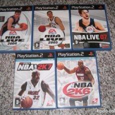 Videojuegos y Consolas: 5 JUEGOS DE LA PLAY2 NBA. Lote 183904346