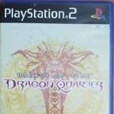 Videojuegos y Consolas: LOTE JUEGO DE PLAY STATION 2 - PS2 - DRAGON QUARTER - BREATH OF FIRE - CAJA ORIGINAL Y MANUAL. Lote 185090850