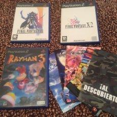 Videojuegos y Consolas: LOTE PS2 FINAL FANTASY XII , X-2 , RAYMAN 3 PORTADA HOLOGRÁFICA Y MANUALES VARIOS. Lote 186169615