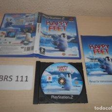 Videojuegos y Consolas: PS2 - HAPPY FEET , PAL ESPAÑOL , COMPLETO. Lote 187505372