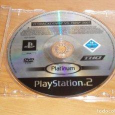 Videojuegos y Consolas: SMACKDOWN VS RAW 2007 SONY PLAYSTATION 2 PS2. Lote 188667211