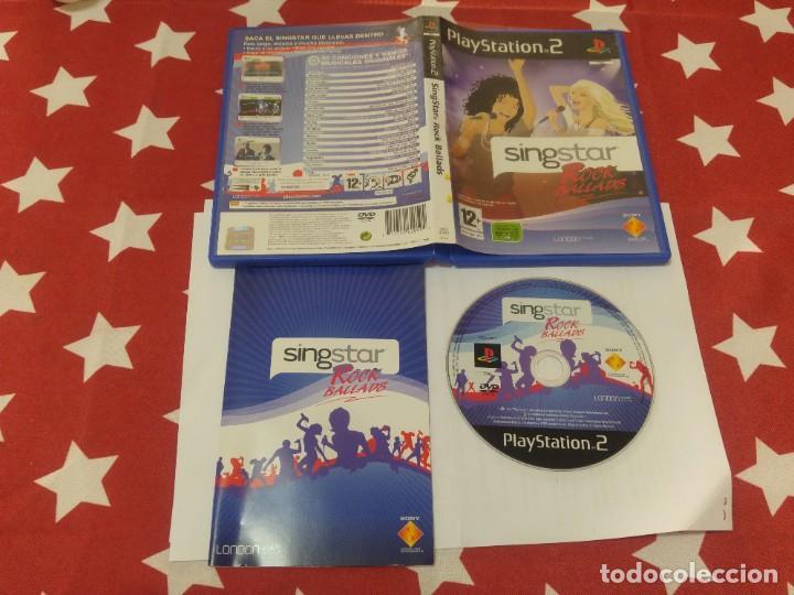 SINGSTAR ROCK BALLADS PS2 PLAYSTATION 2 COMPLETO PAL-ESPAÑA (Juguetes - Videojuegos y Consolas - Sony - PS2)