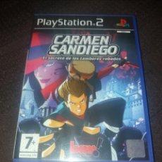 Videojuegos y Consolas: PLAYSTATION 2 CARMEN SANDIEGO EL SECRETO DE LOS TAMBORES ROBADOS. Lote 190043932
