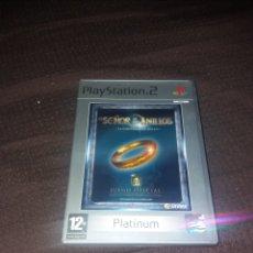 Videojuegos y Consolas: PLAYSTATION 2 EL SEÑOR DE LOS ANILLOS PLATINUM RARO. Lote 190068666