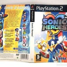 Videojuegos y Consolas: CARATULA SONIC HEROES PLAYSTATION 2 PS2. Lote 190507063