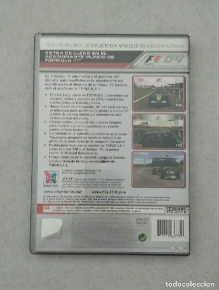 Videojuegos y Consolas: FORMULA ONE 04 - 2004 FERNANDO ALONSO RENAULT - PS2 - PLAYSTATION2 - VER FOTOS - Foto 3 - 190532761