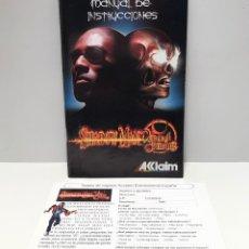 Videojuegos y Consolas: MANUAL SHADOW MAN: 2ECOND COMING PLAYSTATION 2 PS2. Lote 190906236