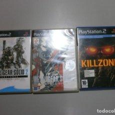 Videojuegos y Consolas: LOTE DE 3 JUEGOS PS2 METAL GEAR SOLID 2 SUBSTANCE Y SONS OF LIBERTY MAS KILLZONE. Lote 191484383