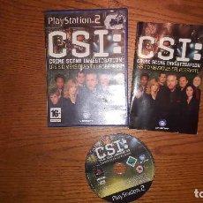 Videojuegos y Consolas: JUEGO PLAY 2 CSI CRIME SCENE INVESTIGACION LAS 3 DIMENSIONES DEL ASESINO. Lote 193290276