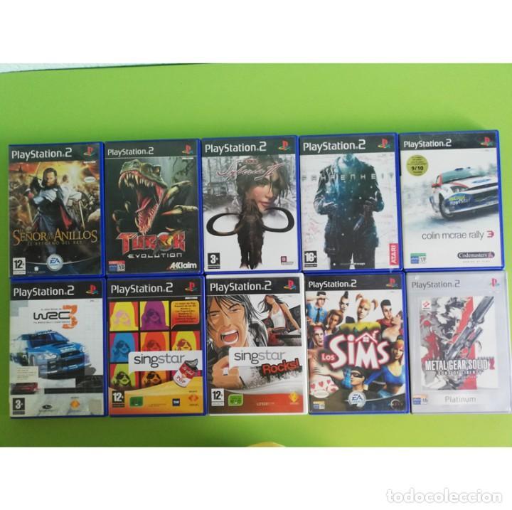 LOTE 10 JUEGOS PS2 PAL ORIGINALES. INCLUYE METAL GEAR SOLID 2. PLAYSTATION 2 (Juguetes - Videojuegos y Consolas - Sony - PS2)