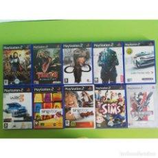 Videojuegos y Consolas: LOTE 10 JUEGOS PS2 PAL ORIGINALES. INCLUYE METAL GEAR SOLID 2. PLAYSTATION 2. Lote 193805377