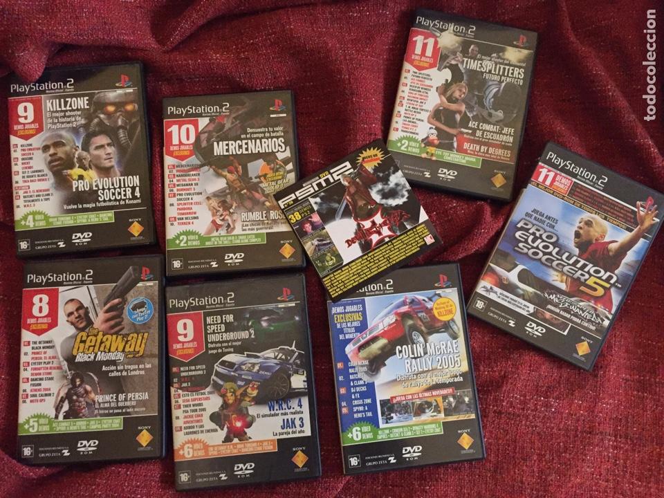 LOTE 8 DVDS CON DEMOS PS2 (Juguetes - Videojuegos y Consolas - Sony - PS2)