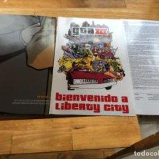 Videojuegos y Consolas: INSTRUCCIONES MAPA Y PÓSTER DE JUEGO GTA 3PLAYSTATION DOS. Lote 194207240