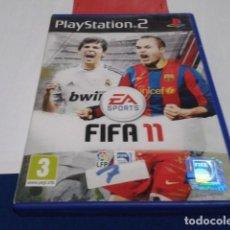 Videojuegos y Consolas: FIFA 11 2011 JUEGO PARA PLAYSTATION PLAY STATION PS2 PAL VERSIÓN ESPAÑOLA COMPLETO. Lote 194253742