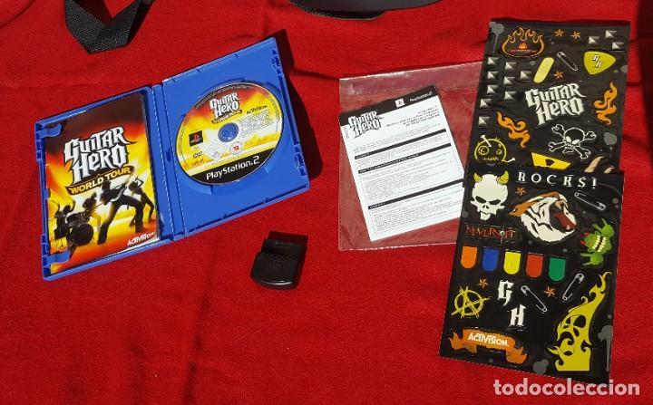 Videojuegos y Consolas: Pack Guitar Hero World Tour para PS2 + Guitarra Wireless Kramer con accesorios y receptor (Completo) - Foto 3 - 194321966