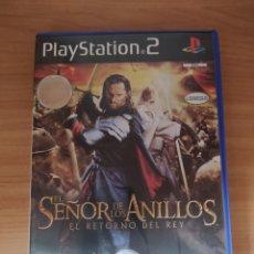 Videojuegos y Consolas: EL SEÑOR DE LOS ANILLOS EL RETORNO DEL REY PS2. Lote 194322363