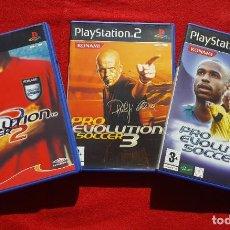 Videojuegos y Consolas: LOTE PRO EVOLUTION SOCCER 2, 3 Y 4 PARA PLAYSTATION 2 (COMPLETO). Lote 194326101