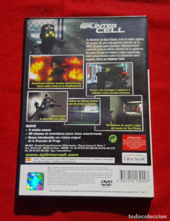 Videojuegos y Consolas: Tom Clancys Splinter Cell para Playstation 2 (Completo) - Foto 2 - 194343731