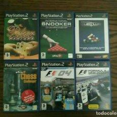 Videojuegos y Consolas: LOTE 6 JUEGOS PLAYSTATION 2 DE SONY, PLAY 2 PS2. Lote 194491746