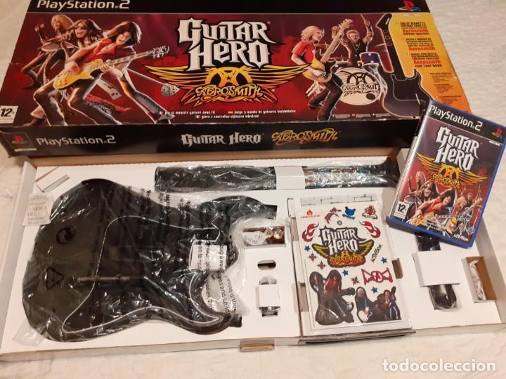 GUITARRA GUITAR HERO AEROSMITH PS2 Y JUEGO (Juguetes - Videojuegos y Consolas - Sony - PS2)