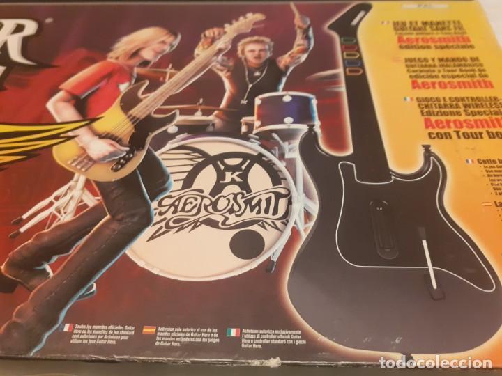 Videojuegos y Consolas: Guitarra guitar hero Aerosmith ps2 y juego - Foto 8 - 194520905