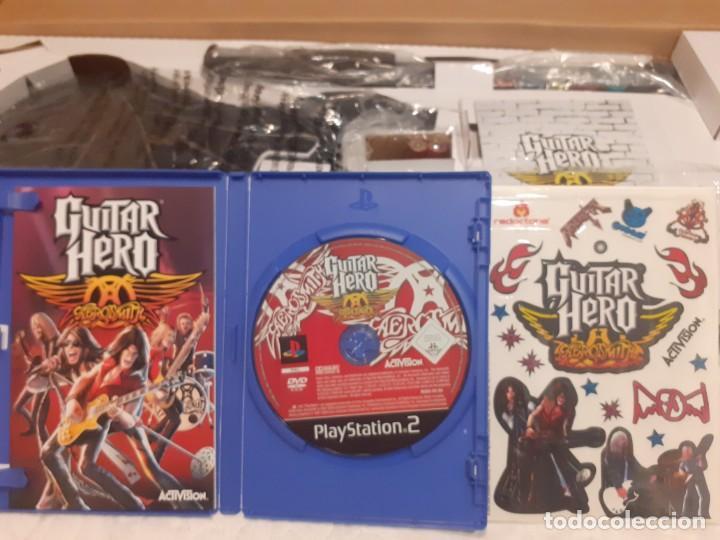 Videojuegos y Consolas: Guitarra guitar hero Aerosmith ps2 y juego - Foto 9 - 194520905