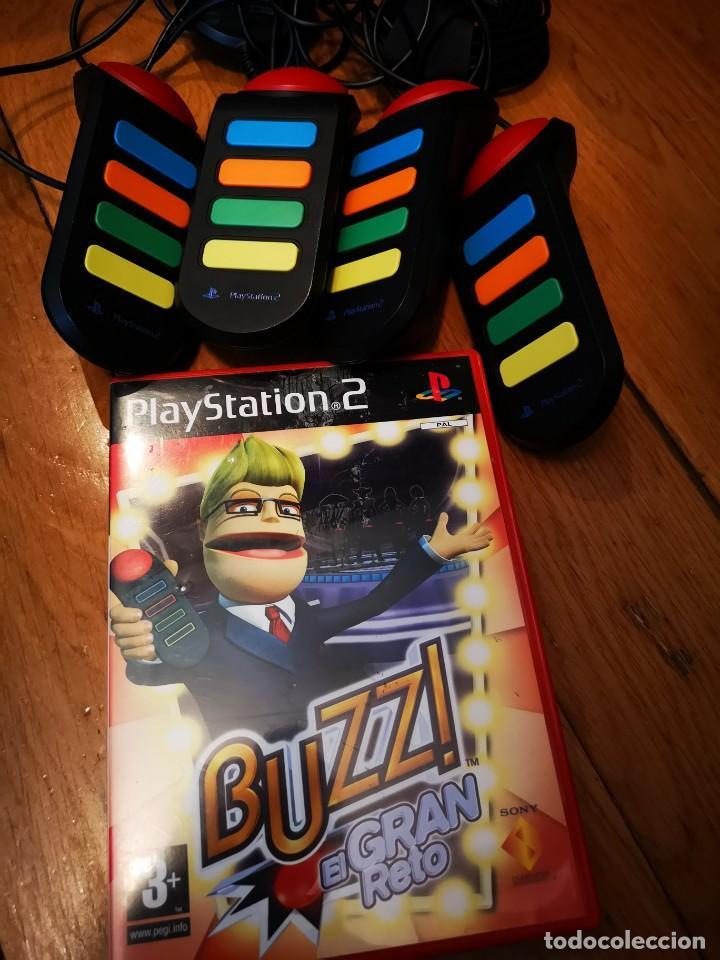 JUEGO PS2 MANDOS PULSADORES BUZZ EL GRAN RETO (Juguetes - Videojuegos y Consolas - Sony - PS2)