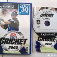 Videojuegos y Consolas: EA SPORTS CRICKET 2002 PS2 PLAYSTATION 2 PLAY STATION TWO KREATEN. Lote 195118431