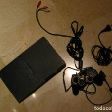Videojuegos y Consolas: PLAY SATATION 2 CON CABLES Y UN MANDO.FUNCIONA.. Lote 195176105