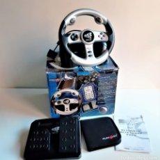 Videojuegos y Consolas: BOLANTE + PEDALES + PORTA DISCOS PLAYSTATION 2 EN CAJA. Lote 195218495