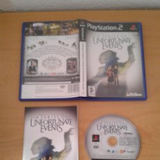 Videojuegos y Consolas: SONY PS2 A SERIES OF UNFORTUNATE EVENTS COMPLETO CIB PLAYSTATION 2 PAL R10065. Lote 195304262