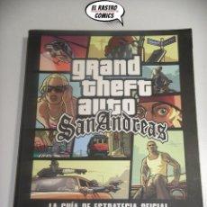 Videojuegos y Consolas: GRAND THEFT AUTO, SAN ANDREAS, 272 PAGINAS, GUÍA DE ESTRATEGIA OFICIAL, CON MAPA, 2004 A9. Lote 195506052