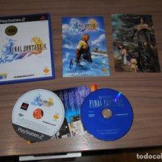 Videojuegos y Consolas: FINAL FANTASY X COMPLETO PLAYSTATION 2 PAL ESPAÑA COMO NUEVO. Lote 197773925