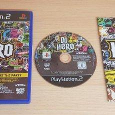 Videojuegos y Consolas: JUEGO PLAYSTATION 2-DJ HERO START THE PARTY-COMPLETO INSTRUCCIONES-PAL-PS2. Lote 253341110